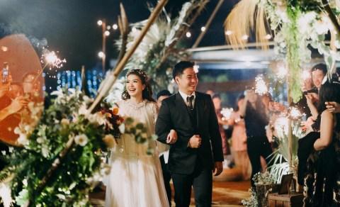 Vintage dan Bohemian Wedding Dress untuk Wulan Wu